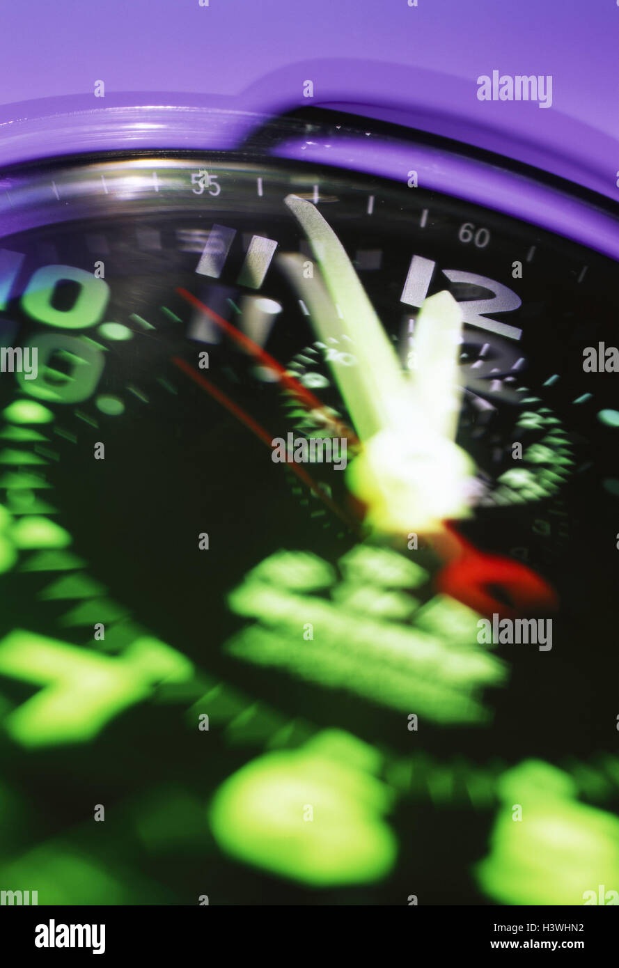Stopwatch, detail, blurs Stock Photo