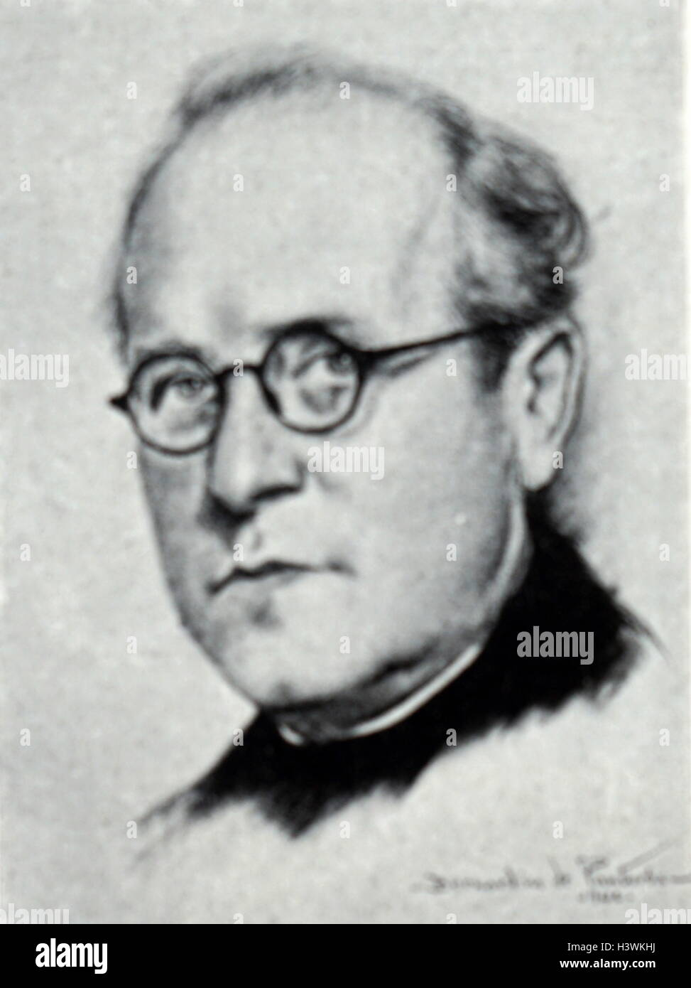 Portrait of Antoni Massana (1890-1966) a Catalan Jesuit priest and composer. Dated 20th Century - Stock Image