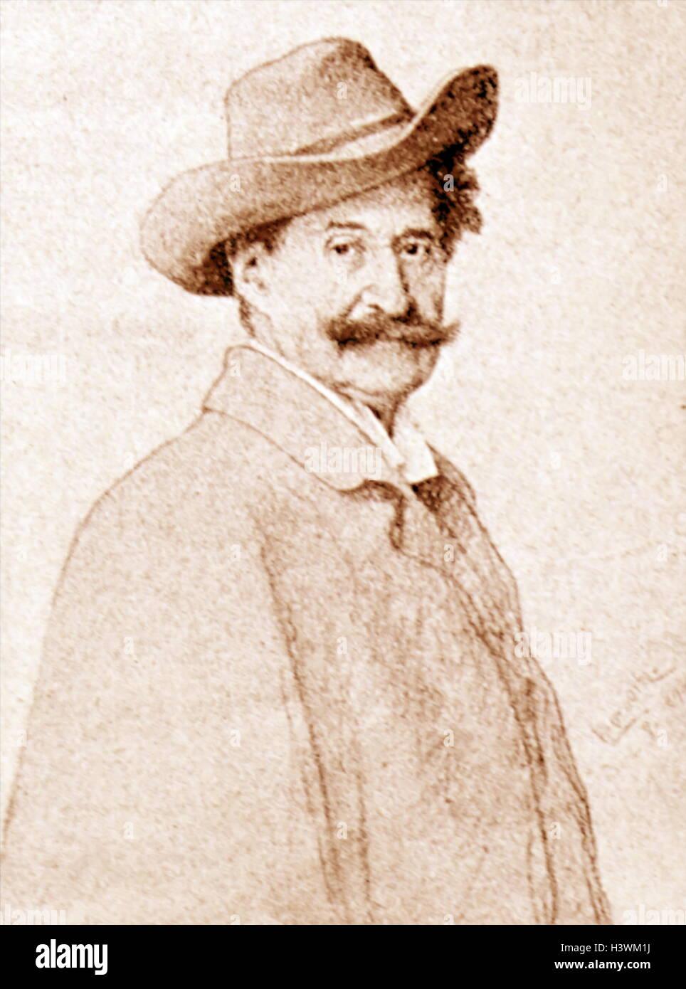 Portrait of Johann Strauss II (1825-1899) an Austrian composer of light music. Dated 19th Century Stock Photo