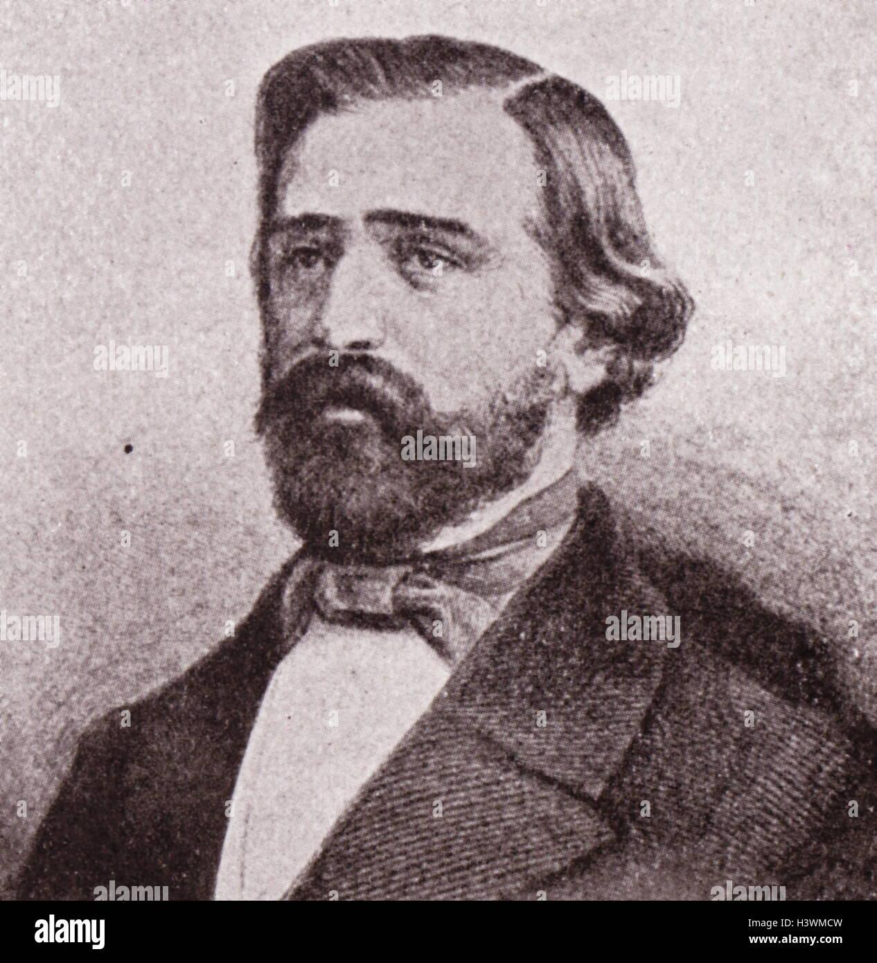 Portrait of Ritratto di Giuseppe Verdi (1813-1901) an Italian composer. Dated 19th Century - Stock Image