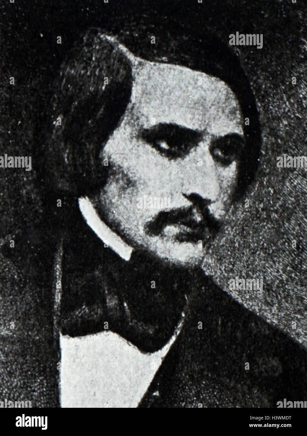 Portrait of Nikolai Gogol - Stock Image