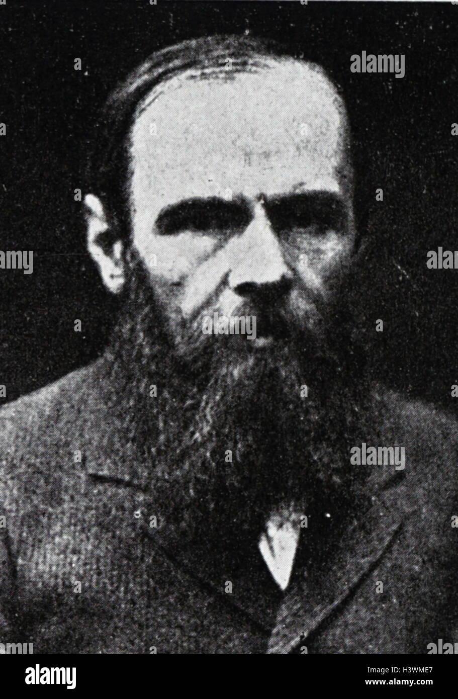 Portrait of Fyodor Dostoyevsky - Stock Image