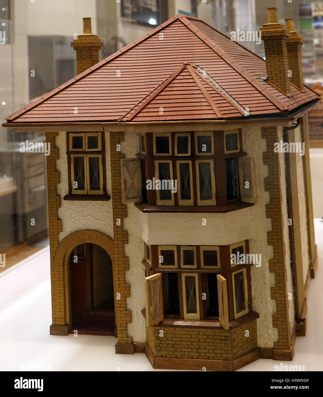 Model of a British 1930's Suburban  Home. Dated 20th Century - Stock Image