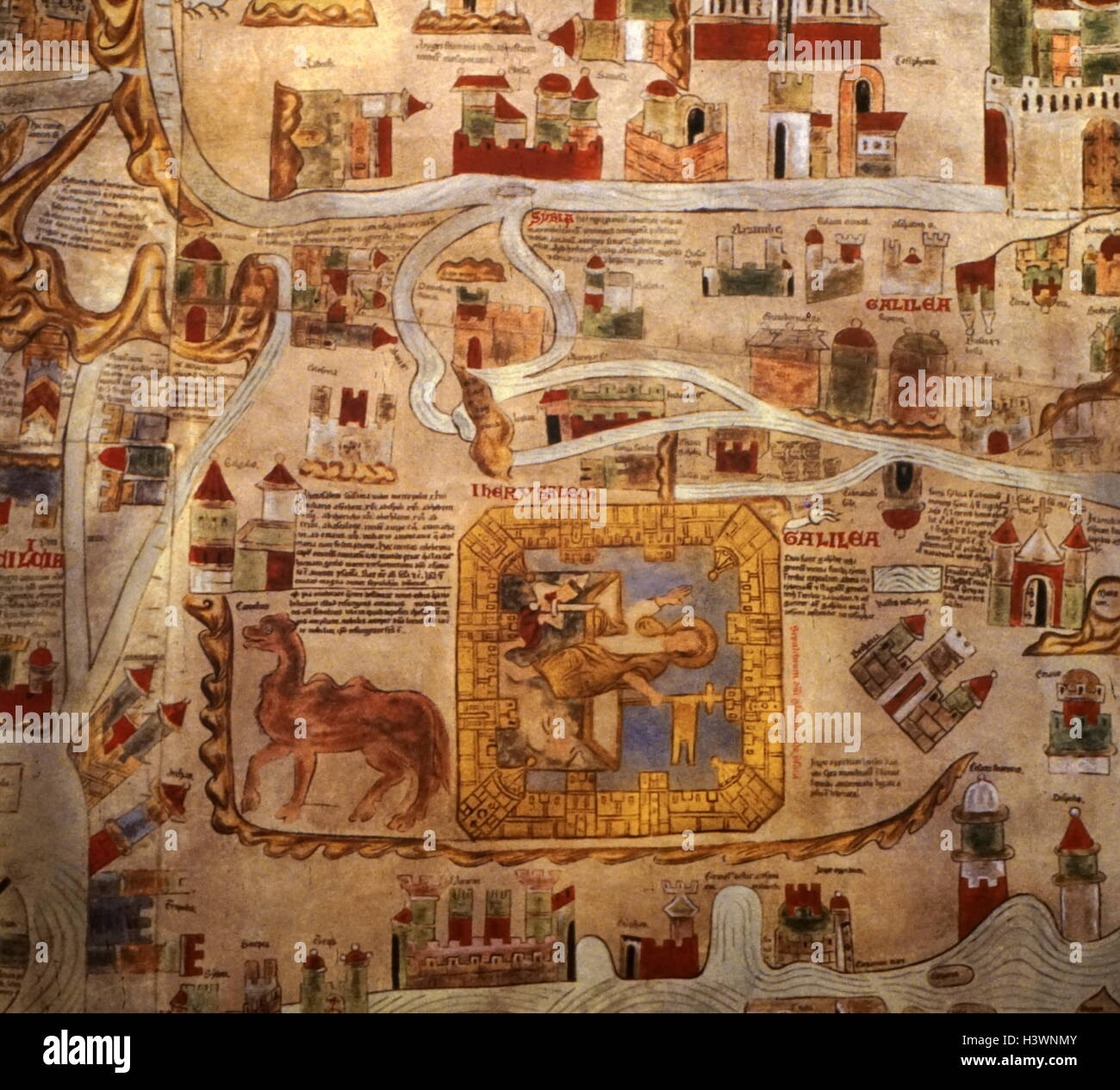 A detailed medieval map of the world as it was known dated 14th a detailed medieval map of the world as it was known dated 14th century gumiabroncs Gallery