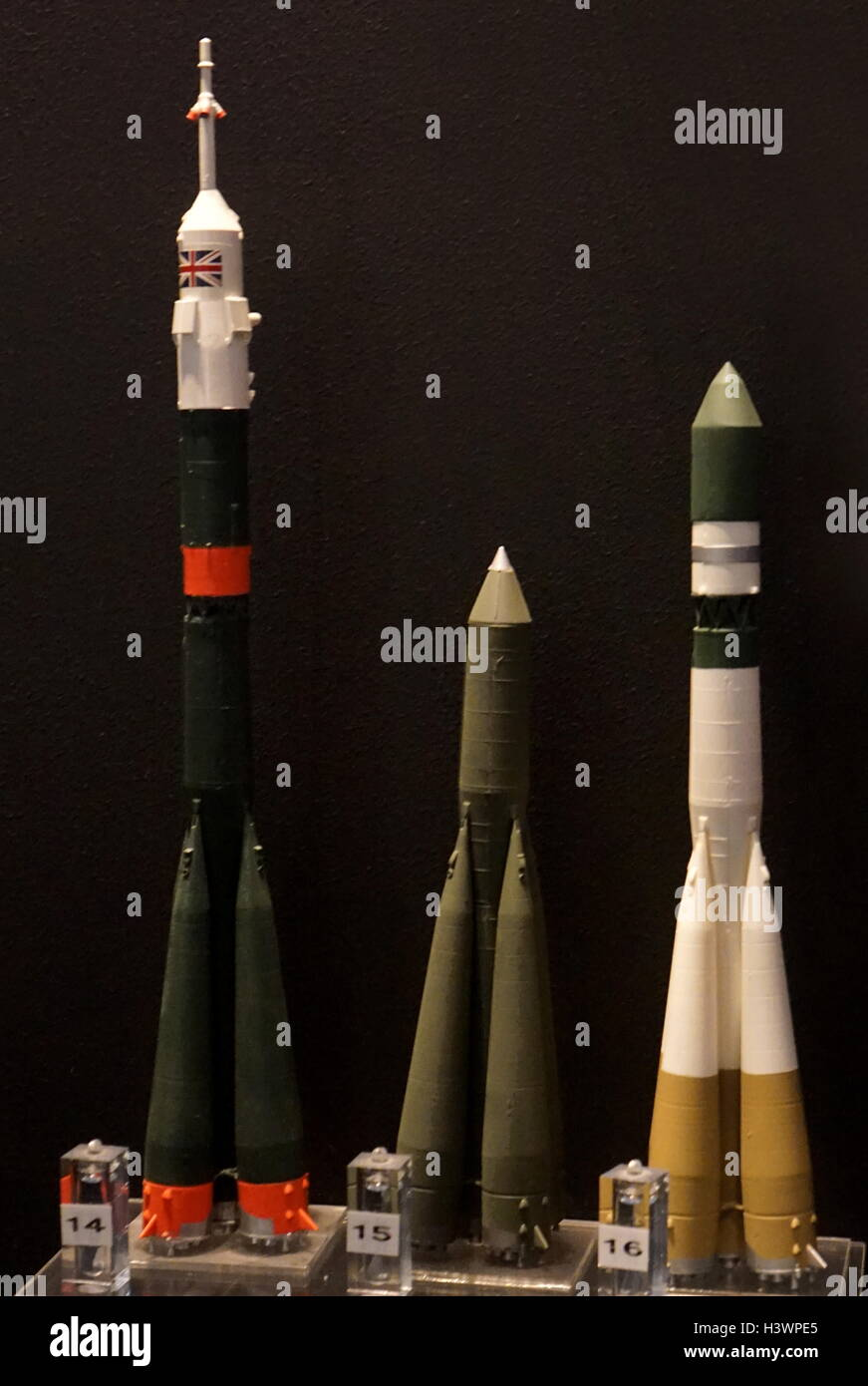 Space rocket launchers developed since the 1950s. Dated 20th Century - Stock Image