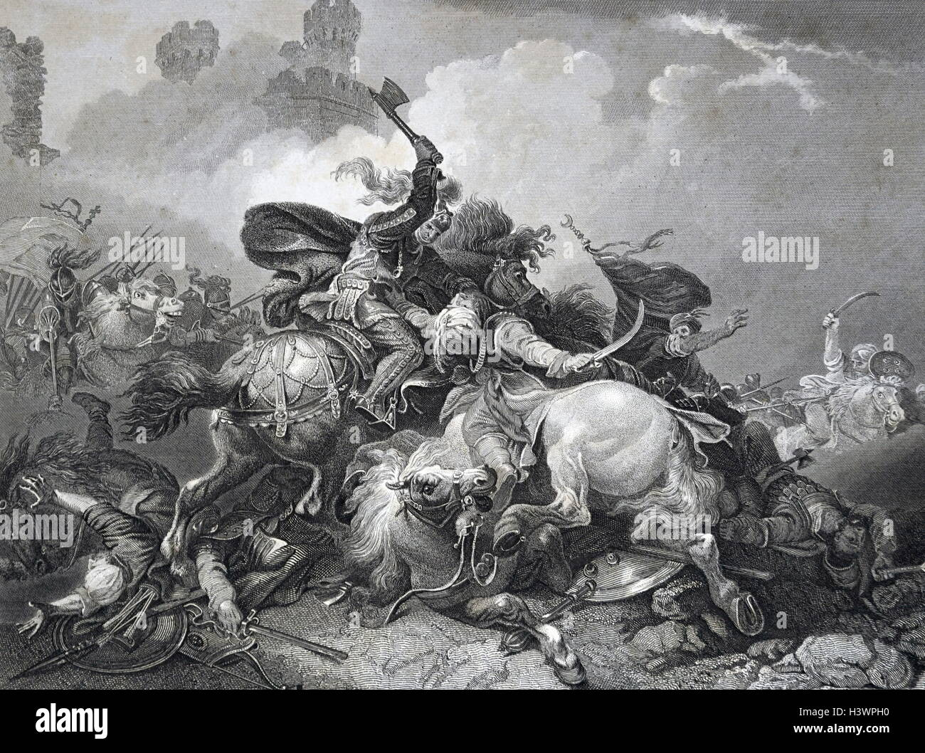 Painting depicting King Richard I in Palestine during the King's Crusade - Stock Image