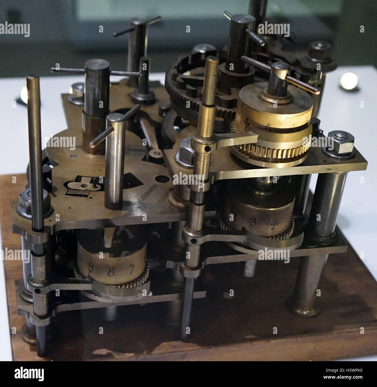 Difference engine designed by Charles Babbage - Stock Image