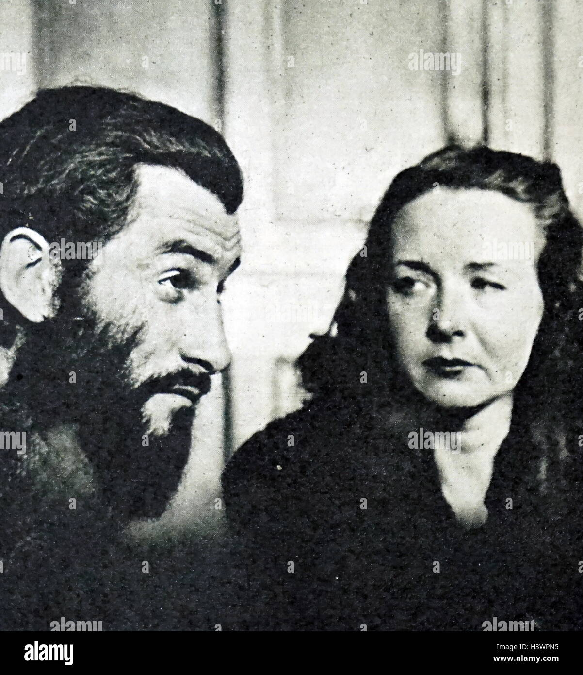 Photograph of Geneviève Danelle and Roger Calame - Stock Image