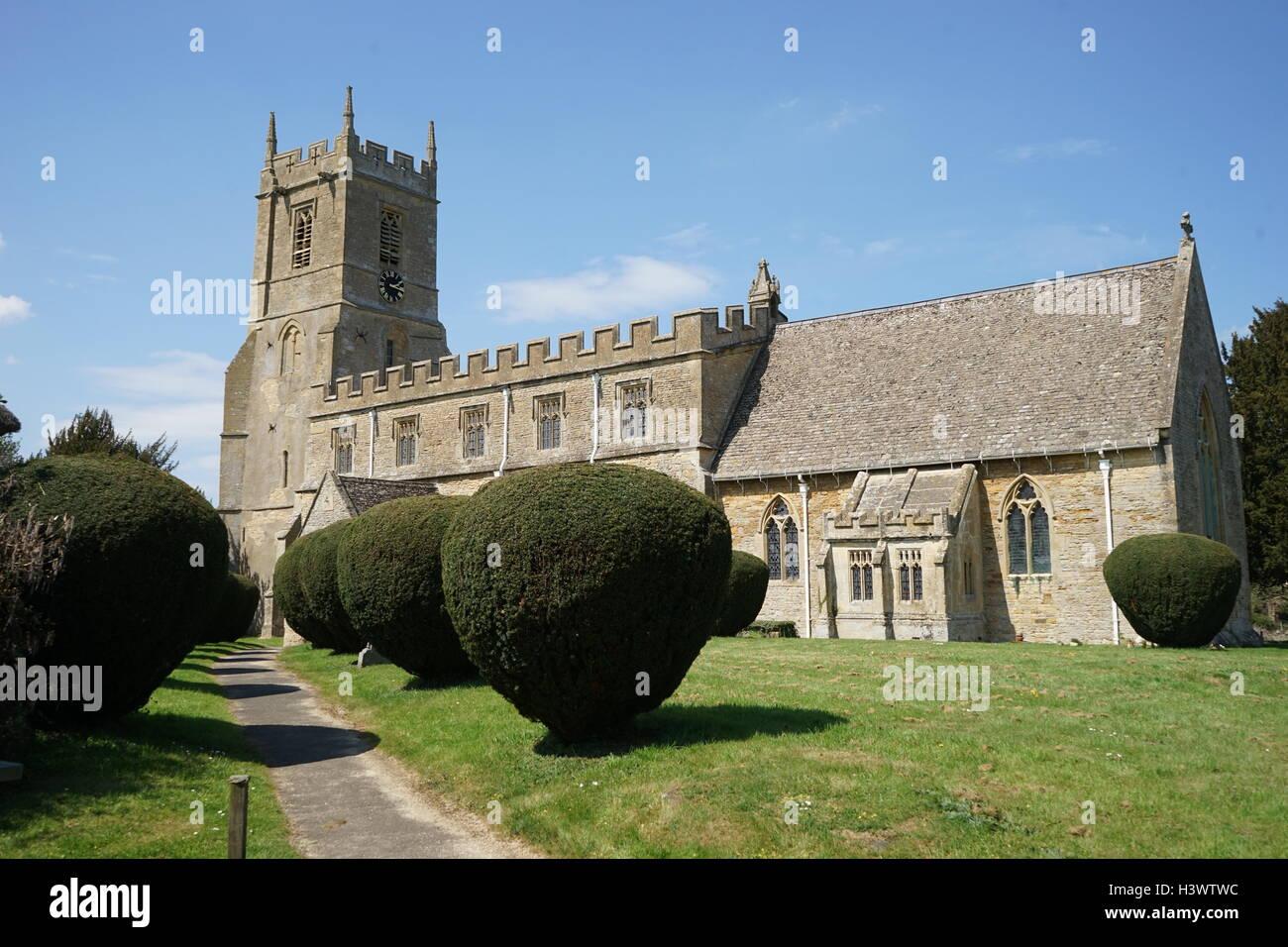 St Peter & St Paul C Of E Church, Long Compton - Stock Image