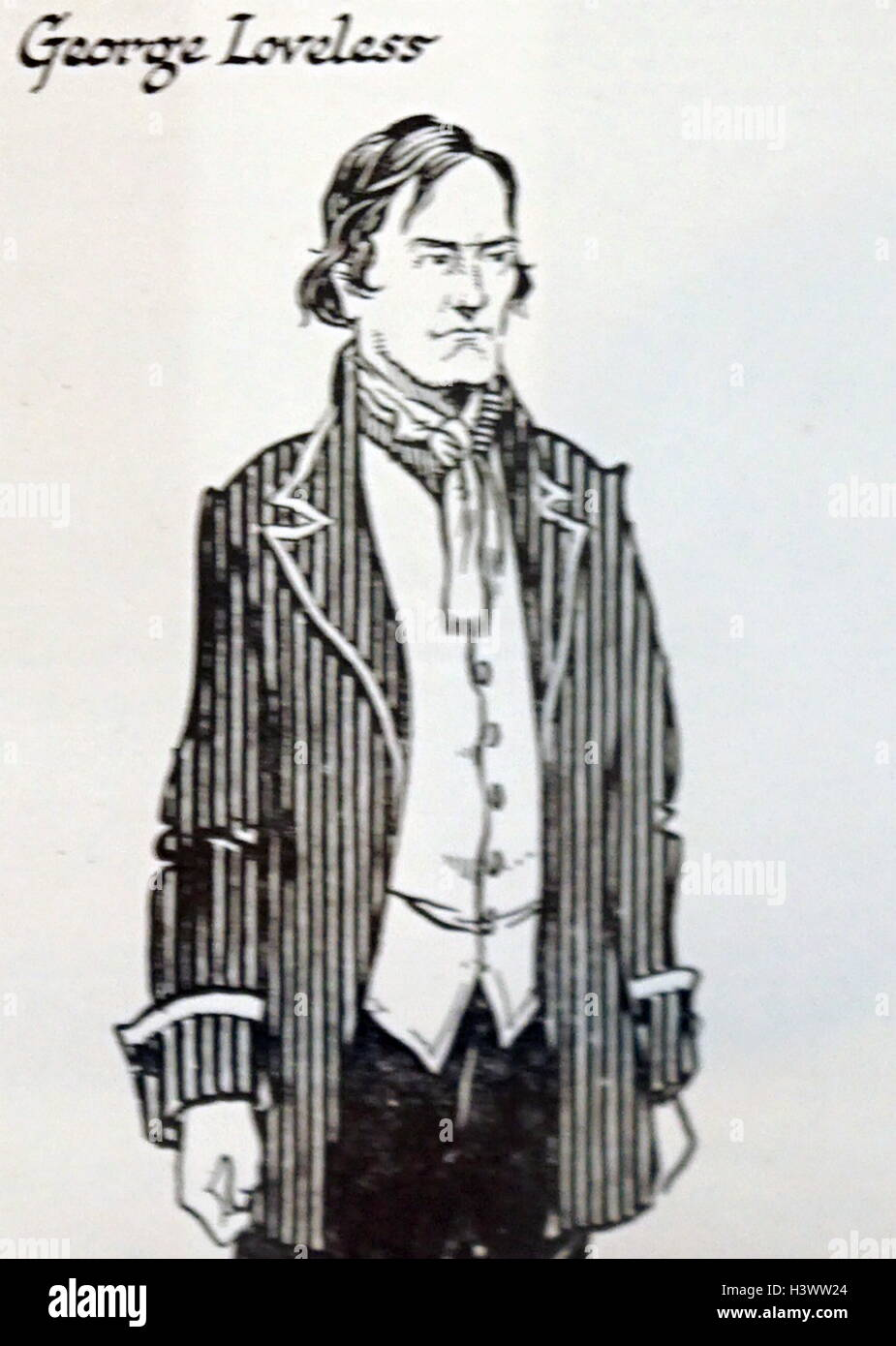 Illustration of George Loveless, one of the Tolpuddle Martyrs - Stock Image