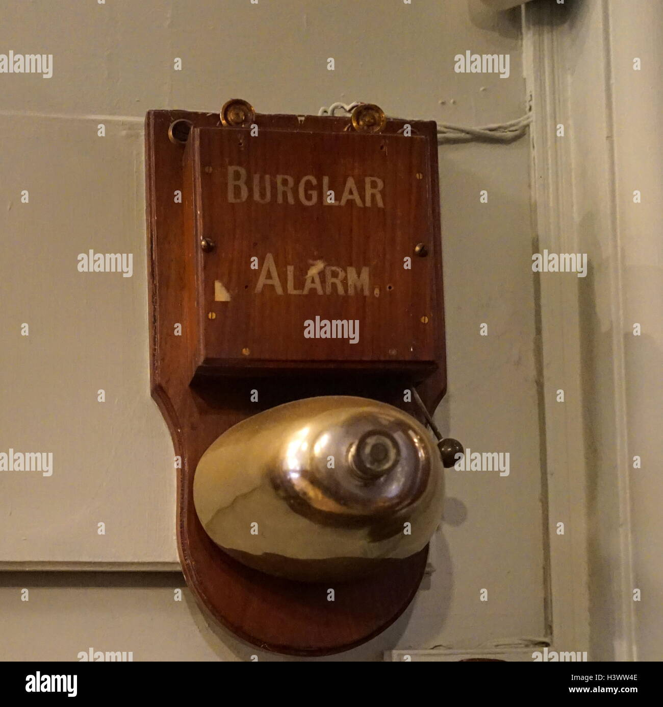 19th Century burglar alarm. Dated 21st Century - Stock Image