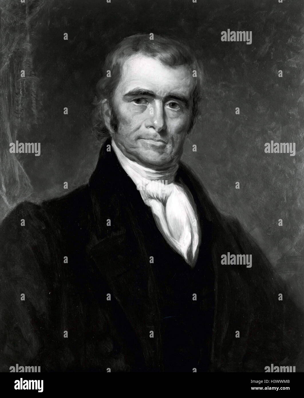 Portrait of John Marshall (1755-1835) fourth Chief Justice of the United States of America. Dated 19th Century - Stock Image