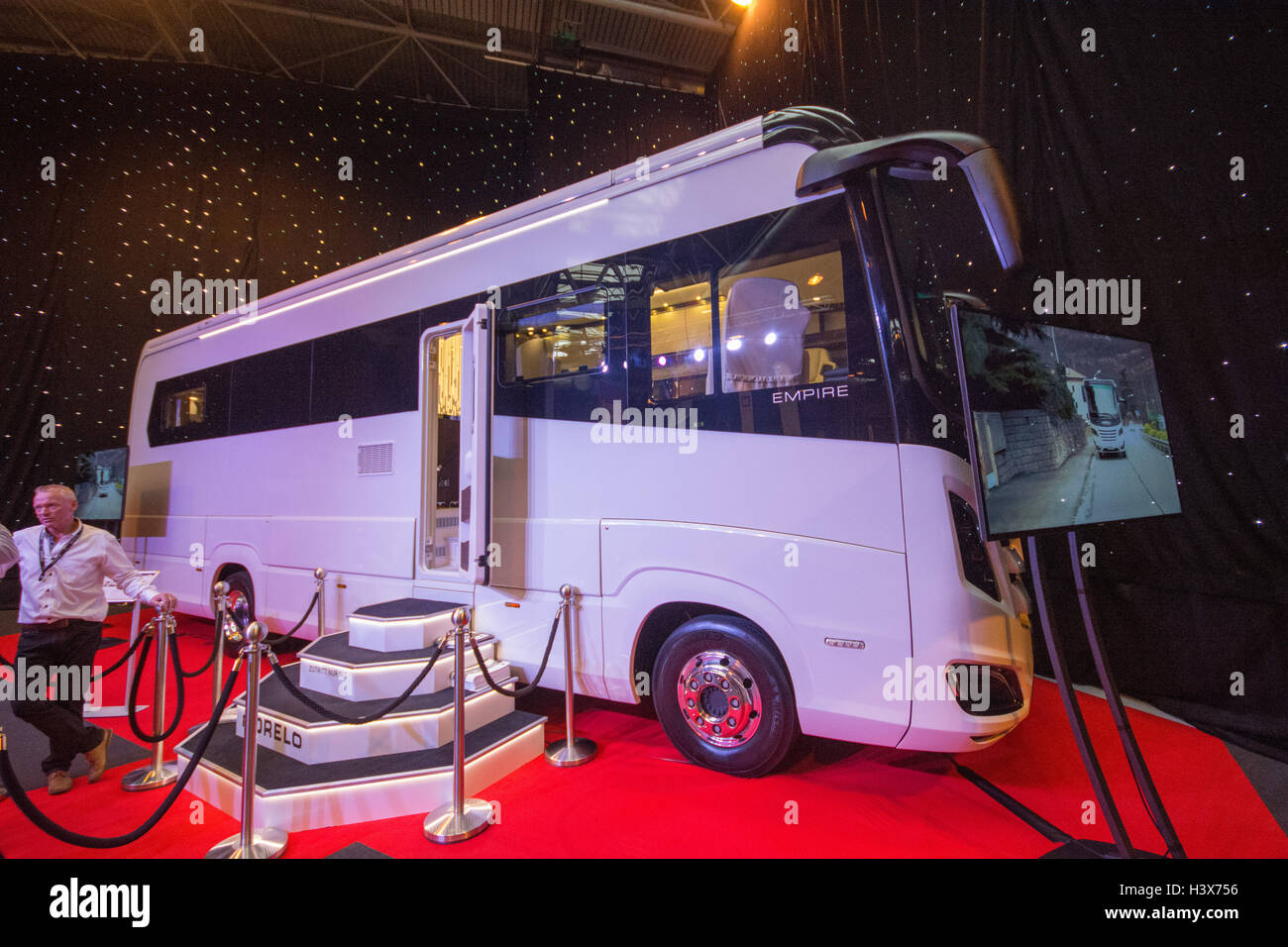 NEC, Birmingham, UK. 13th October 2016. Seen here the Morelo Empire Liner making it's UK debut. Valued from - Stock Image