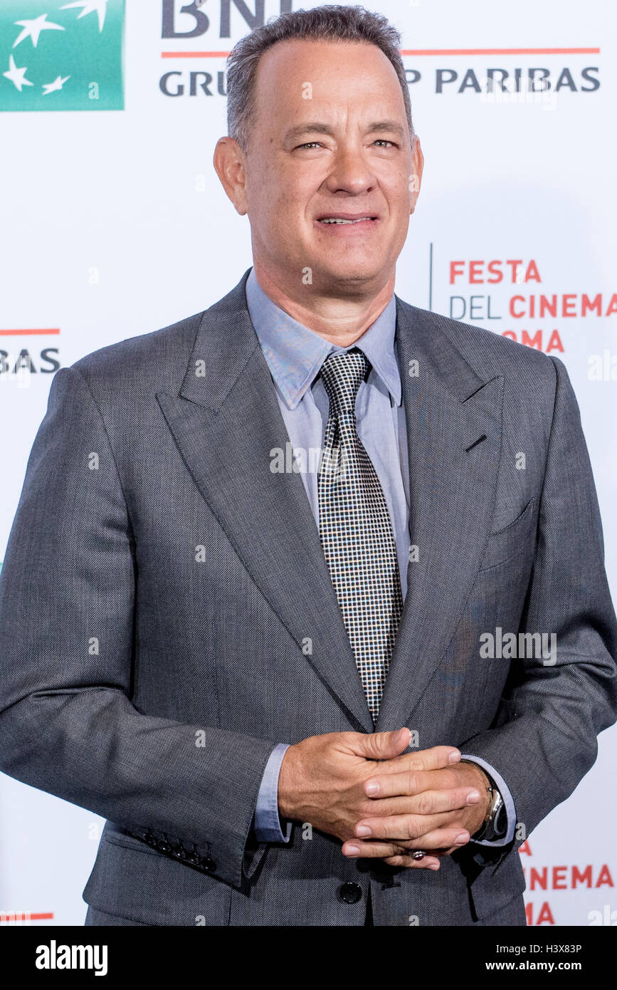 Rome, Italy. 13th October, 2016. Tom Hanks attending a photocall during 11th Rome Film Festival on October 13, 2016 - Stock Image