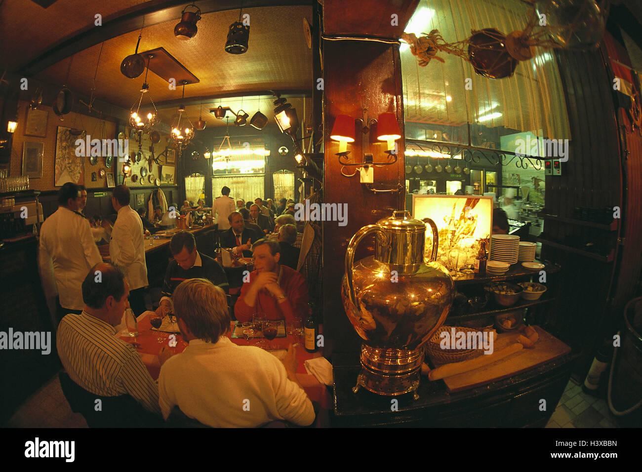 Belgium, Brussels, restaurant 'Chez Vincente', inside, Rue de Brouckere - Stock Image