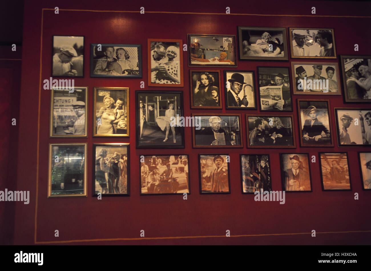 Germany, Berlin, Billy wilder it restaurant, wall, photo, public figures, Europe, capital, Potsdam space, bar, bar, - Stock Image