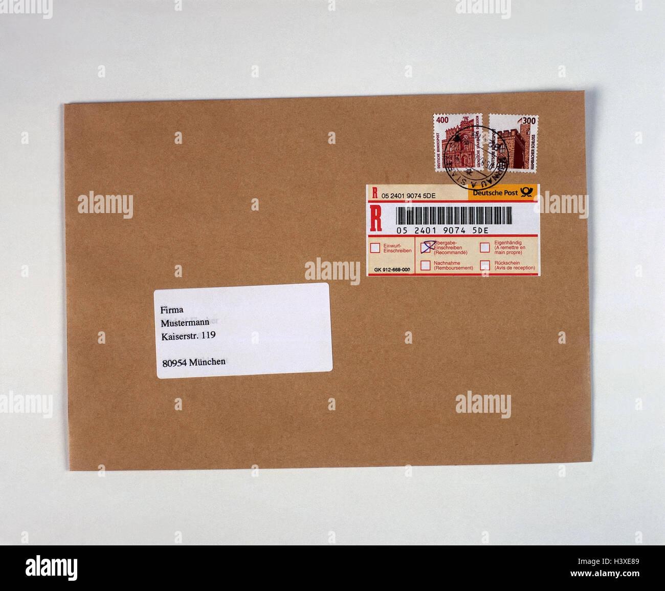registered letter letter envelope stock photos registered letter