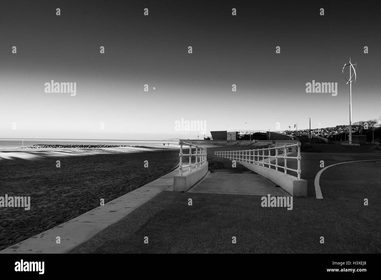 Promenade at Colwyn Bay - Stock Image