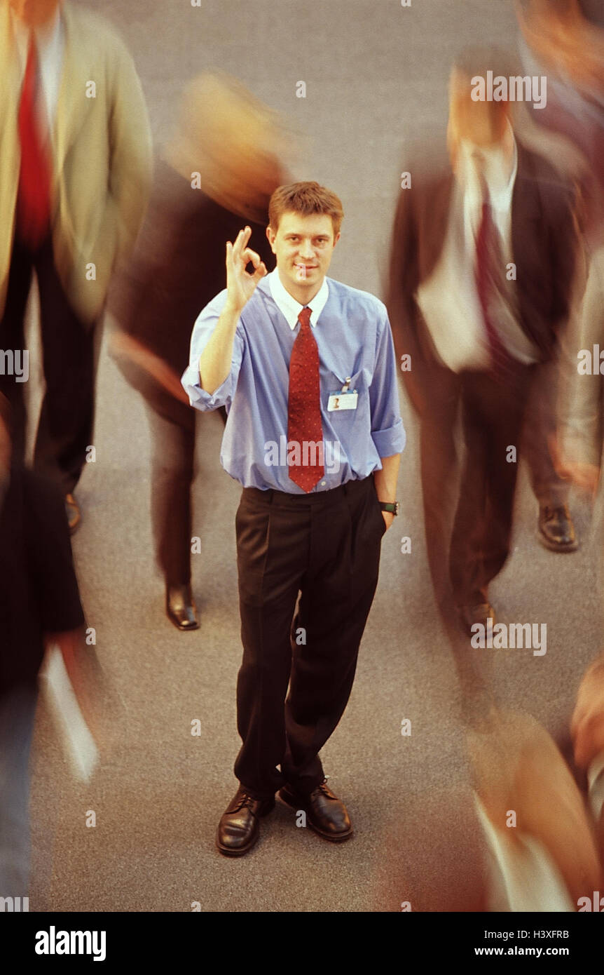 Stock exchange, manager, gesture, very well, manipulated, trade, hectic rush, stress, stressful, crowds people, - Stock Image