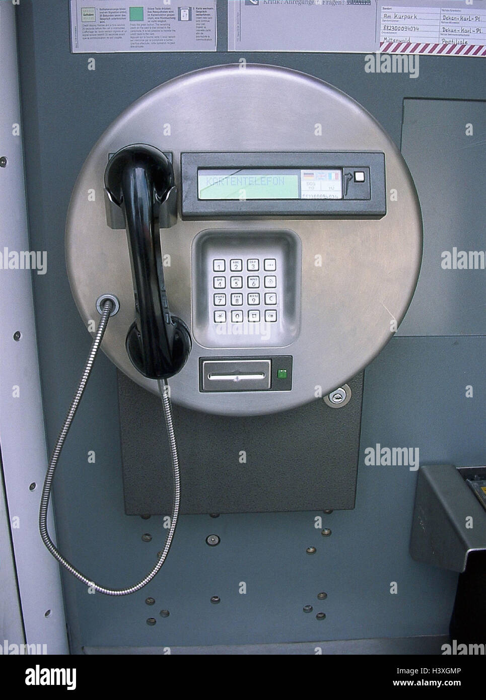 Telephone box, charge-cardphone telephone, publicly, telecommunication, communication, phone, call up, connection, - Stock Image