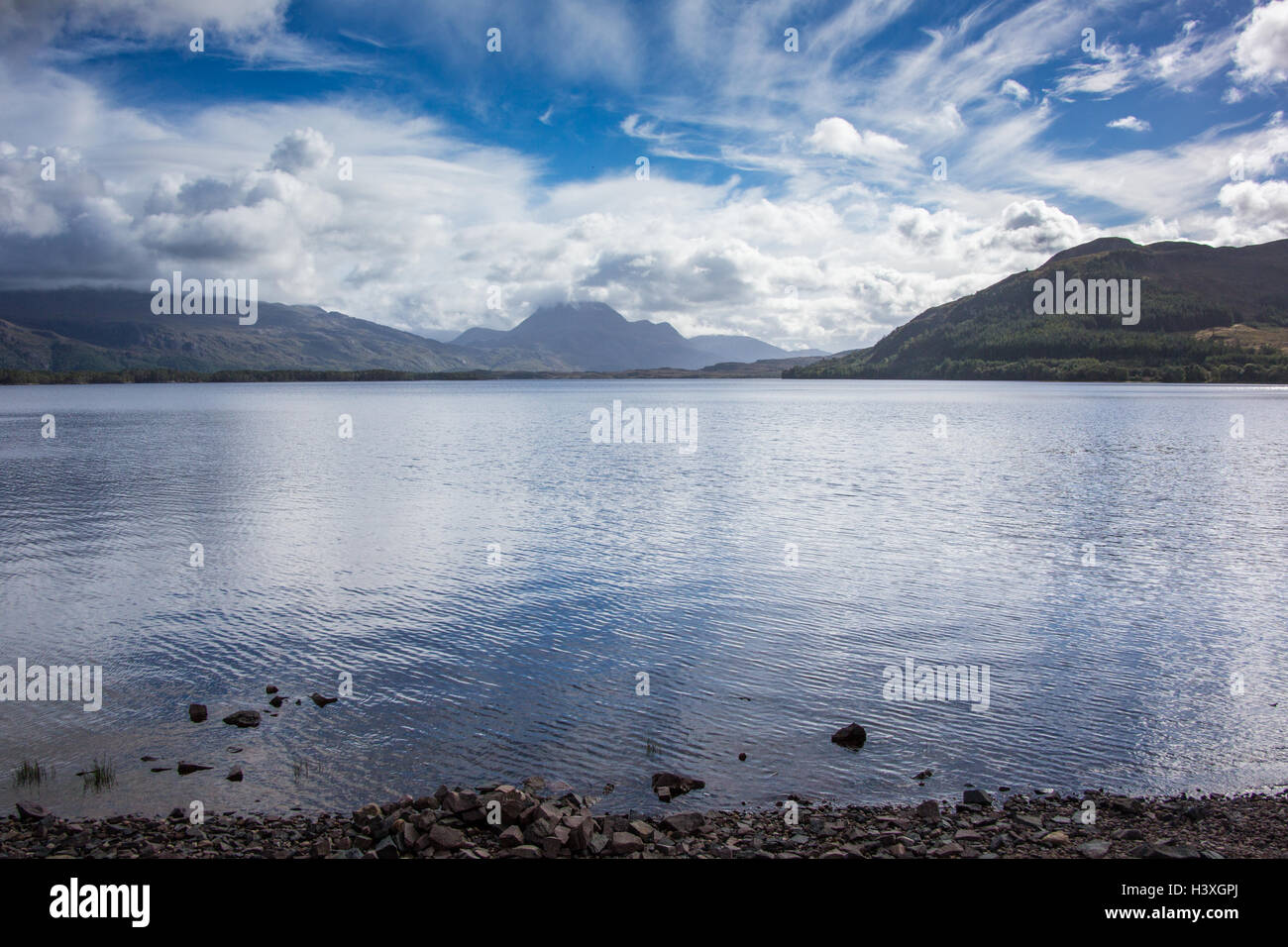 Loch Maree in Wester Ross - Stock Image