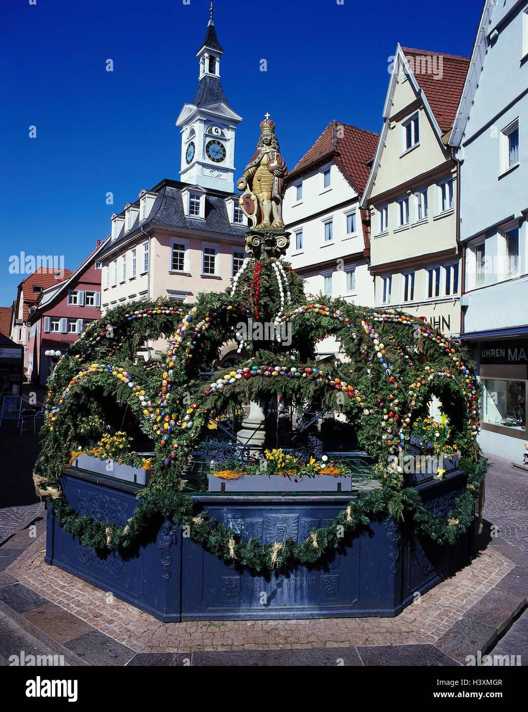Germany, Baden-Wurttemberg, to eels, Easter wells, Europe