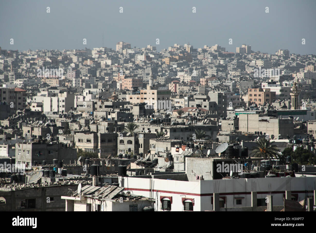 General views of Gaza. From a series of photos commissioned by  British NGO, Medical Aid for Palestinians (MAP). - Stock Image