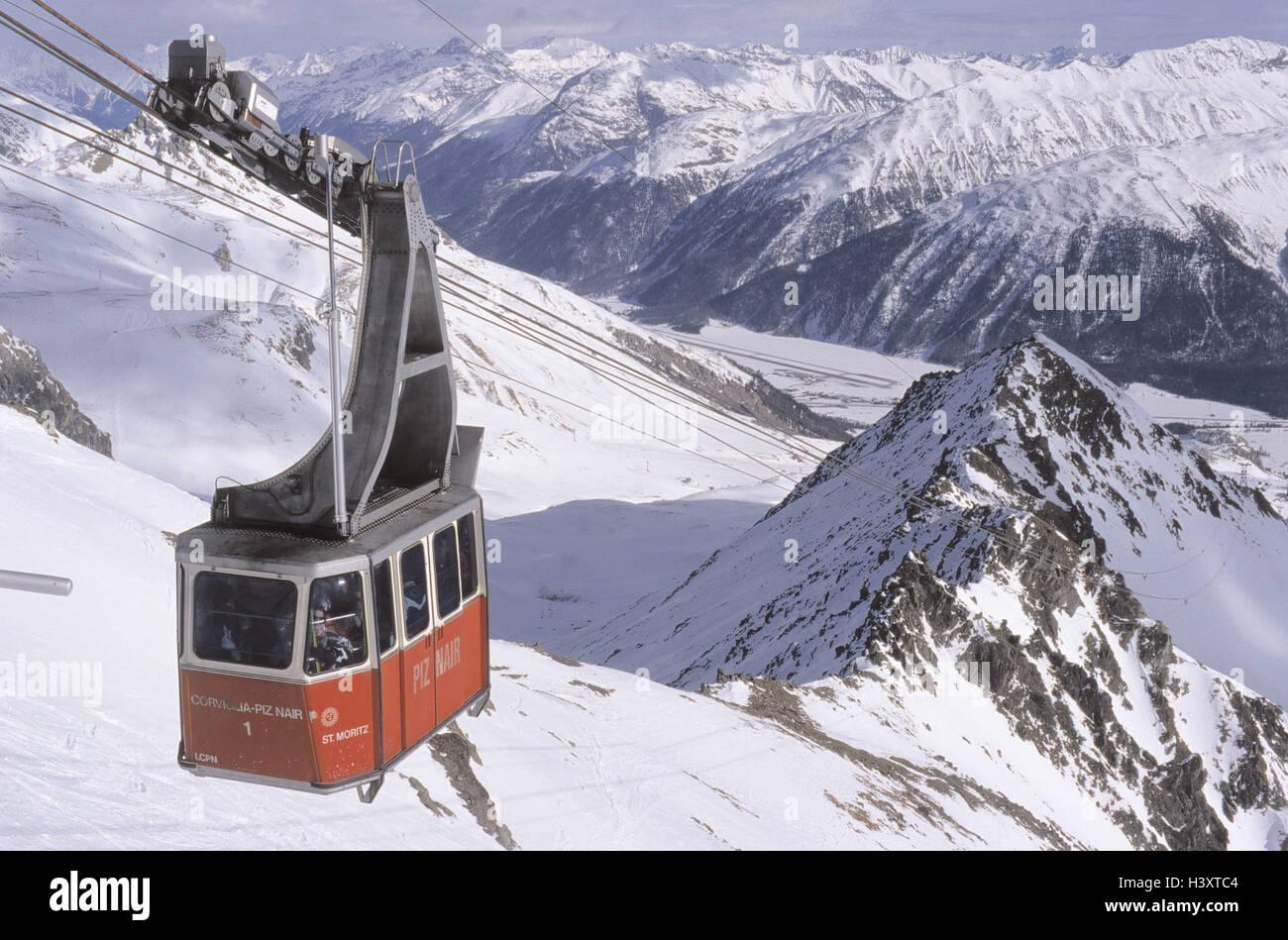 Switzerland Graubuenden St Moritz Ski Region Corviglia