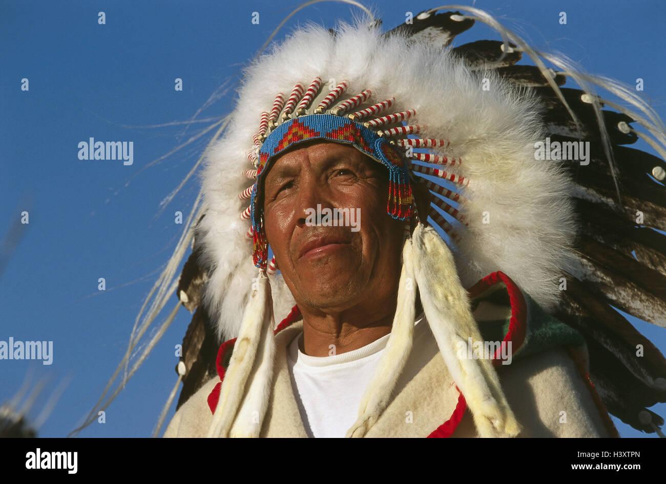 Canada, Alberta, Blackfoot Indian, portrait, Blackfoot