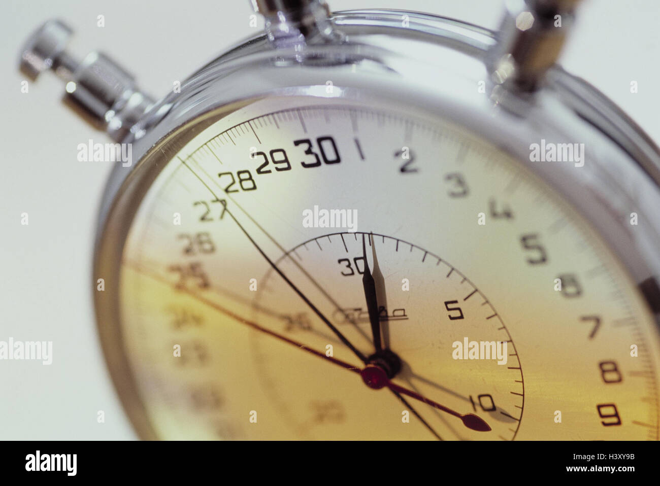 Stopwatch, detail, time measurement, clock, time, duration, capacity, measure, stop, speed, short-term measuring - Stock Image