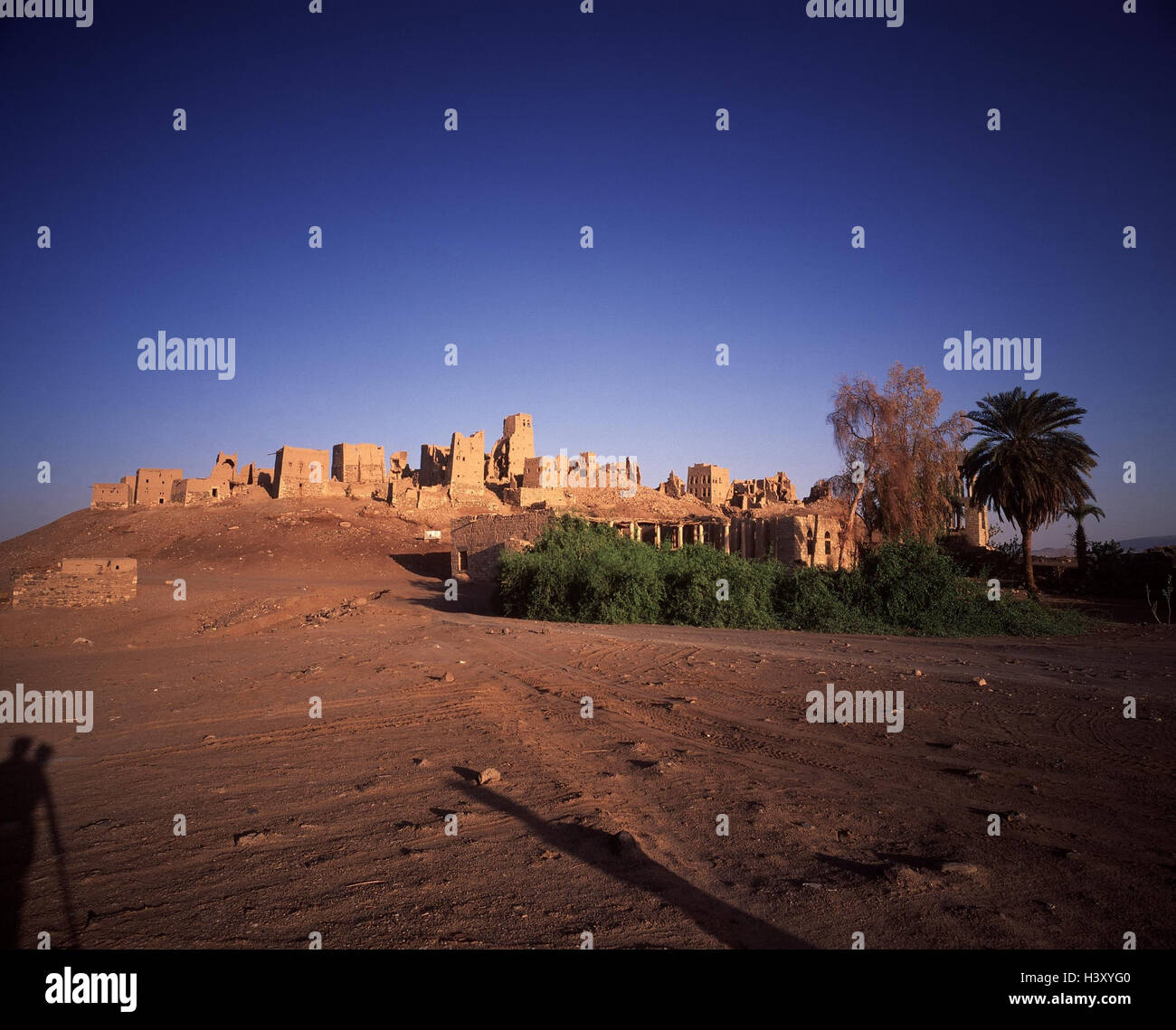 Yemen, Alt-Marib, town view, Arabia, alto-in Arabic, peninsula, mucky construction, Old Town, decayed houses, mucky - Stock Image