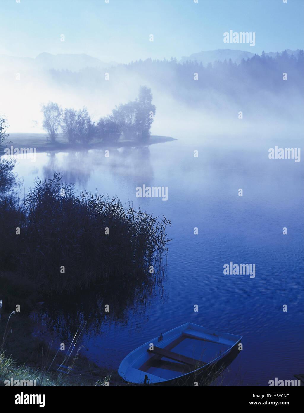 Germany, Allgaeu, Forggensee, fogs, - Stock Image