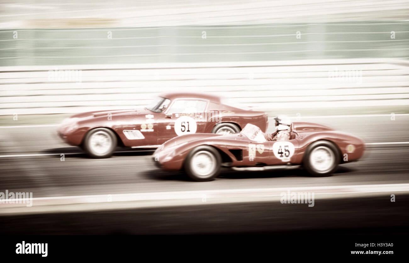 Germany, Rhineland-Palatinate, Nürburgring, car racing, old-timer, Ferrari, ONLY EDITORIALLY, Europe, race - Stock Image