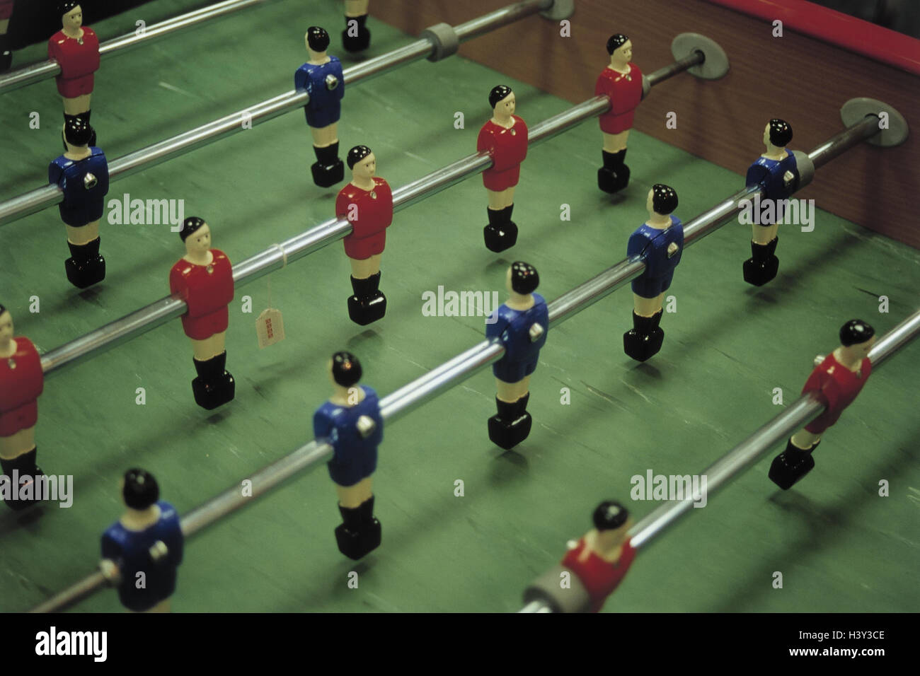 Table football, detail, product photography, Still life, table football match, football player, leisure time, entertainment, - Stock Image