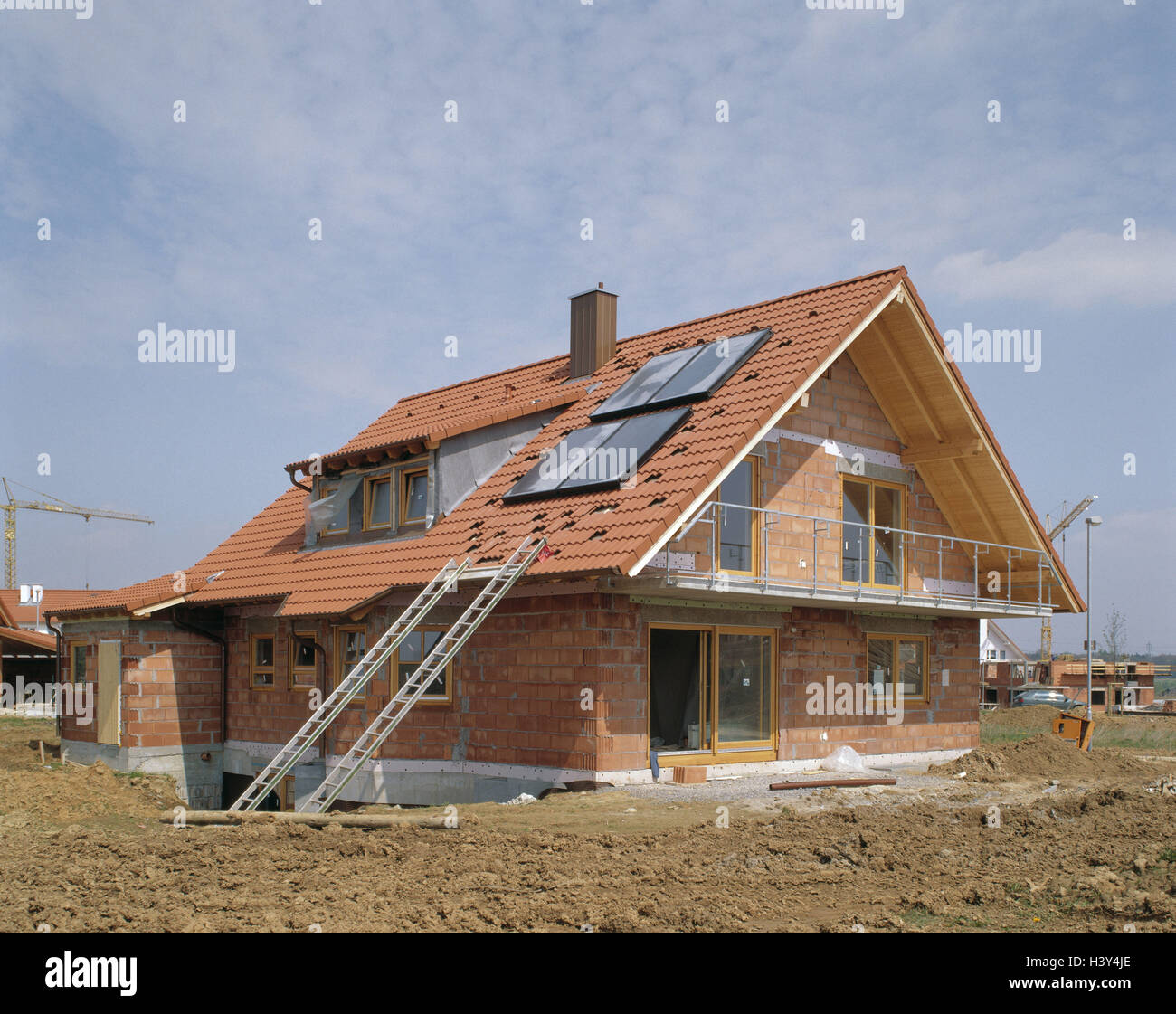 Single Family Dwelling, Shell, House Roof, Solar Plant, House, Houses,  Building Of A House, Construction, Build, Residential Property, Own Home,  Real Estate ...