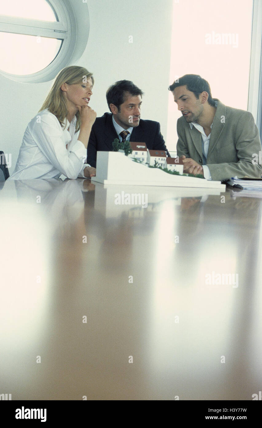 Architect, employees, model, discussion, presentation, business, occupation, architect, architecture office, woman, Stock Photo