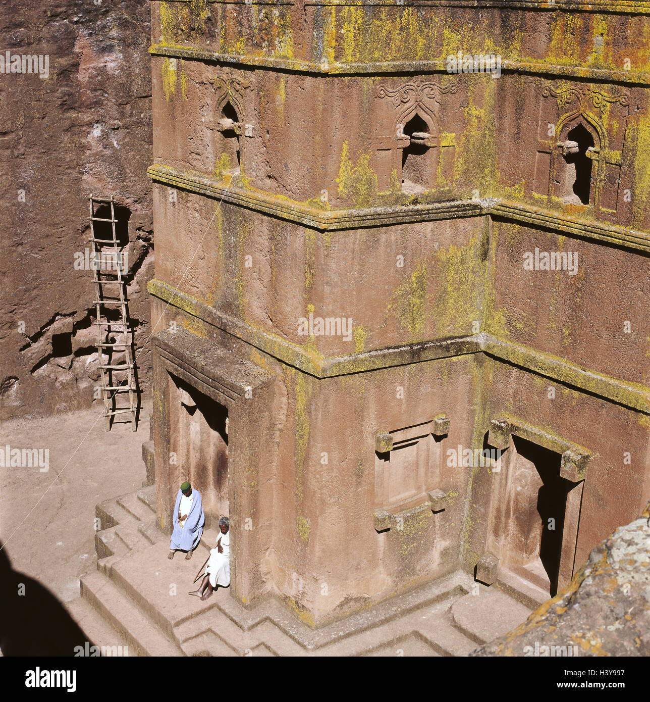 Ethiopia, Amharahochland, Lalibela, rock church, Abba Libanos, Africa, North, Africa, Binnenstadt, structure, church, - Stock Image
