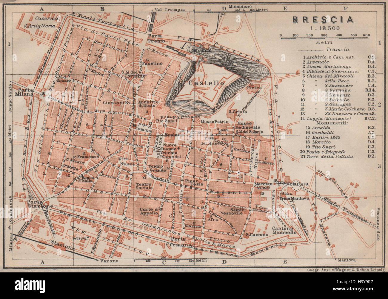 NAPOLI NAPLES antique town city plan piano urbanistico Italy mappa 1911