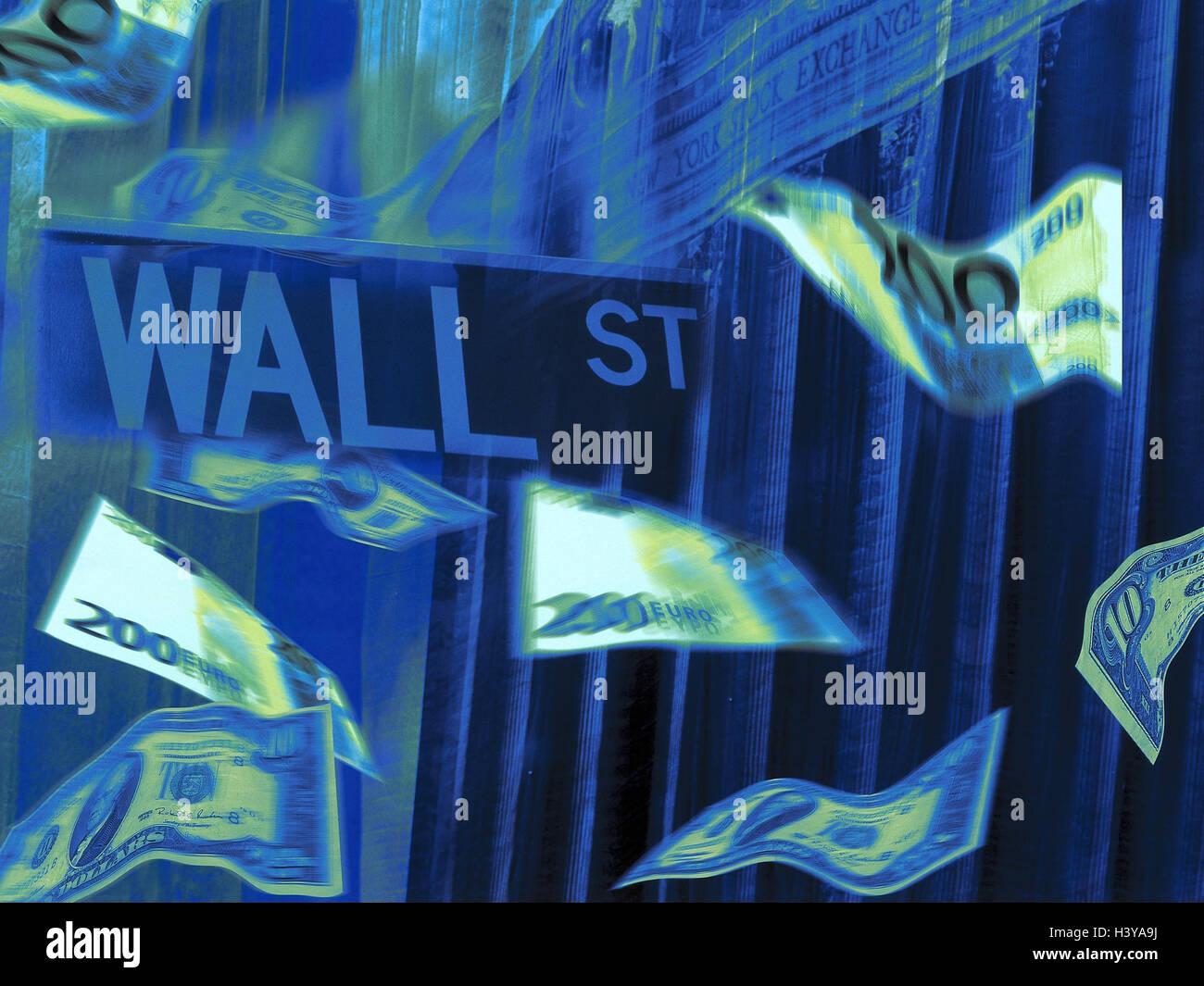 Composing the usa new york stock exchange wall street bank