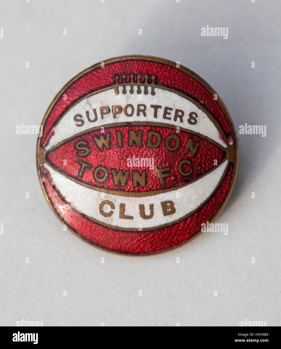 Vintage Swindon Town FC Supporters Club Badge - Stock Image