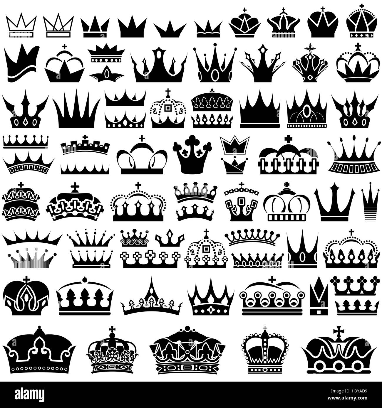 Crown Collection - Stock Image