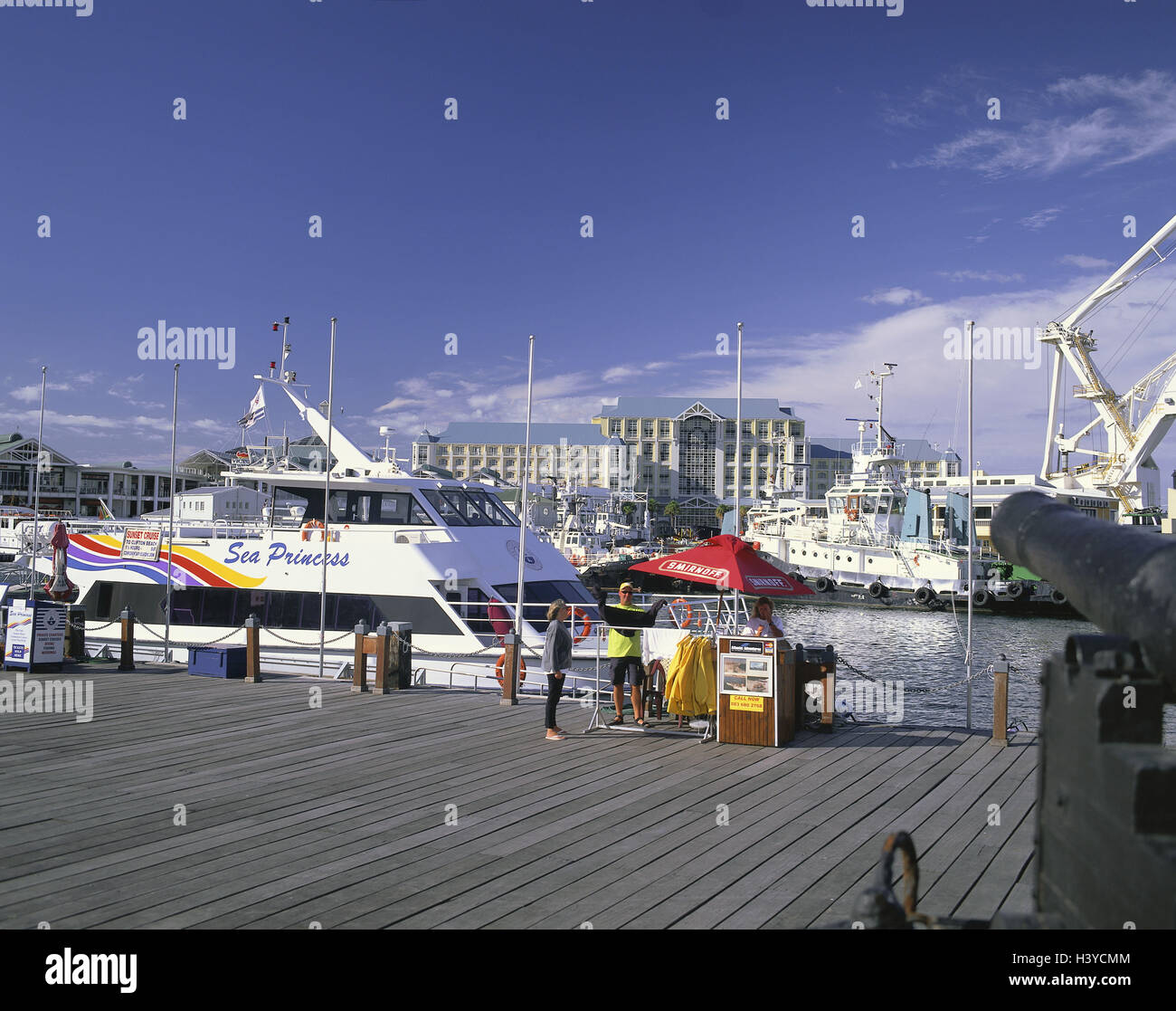 South, Africa, Capetown, harbour, Victoria & Alfred Waterfront, ships, Africa, province, west cape, town, capital, - Stock Image