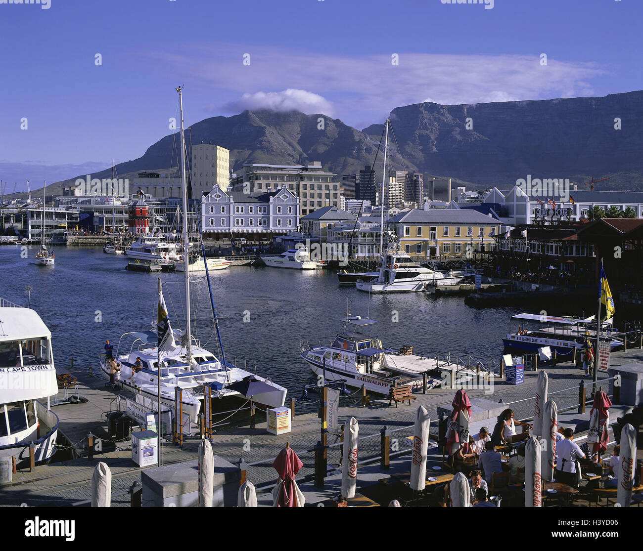 South, Africa, Capetown, harbour, Victoria & Alfred Waterfront, mesa, 1086 m, Africa, province, west cape, town, - Stock Image
