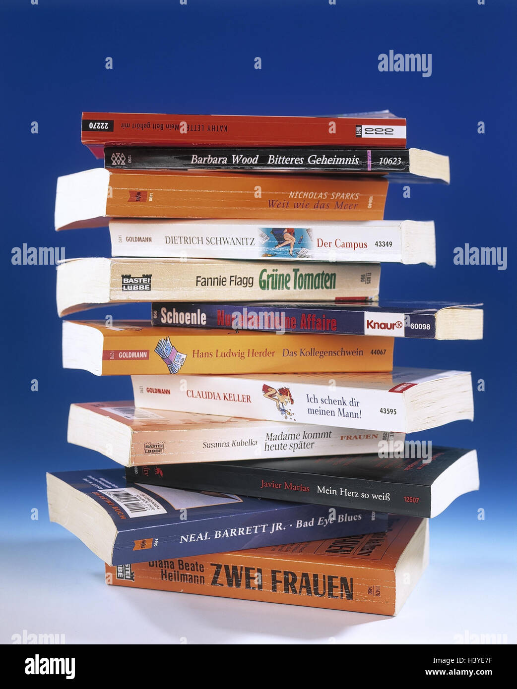 Book batch, books, paperbacks, stacked, batch, reading, entertainment, Romans, leisure time reading, reading, Still - Stock Image