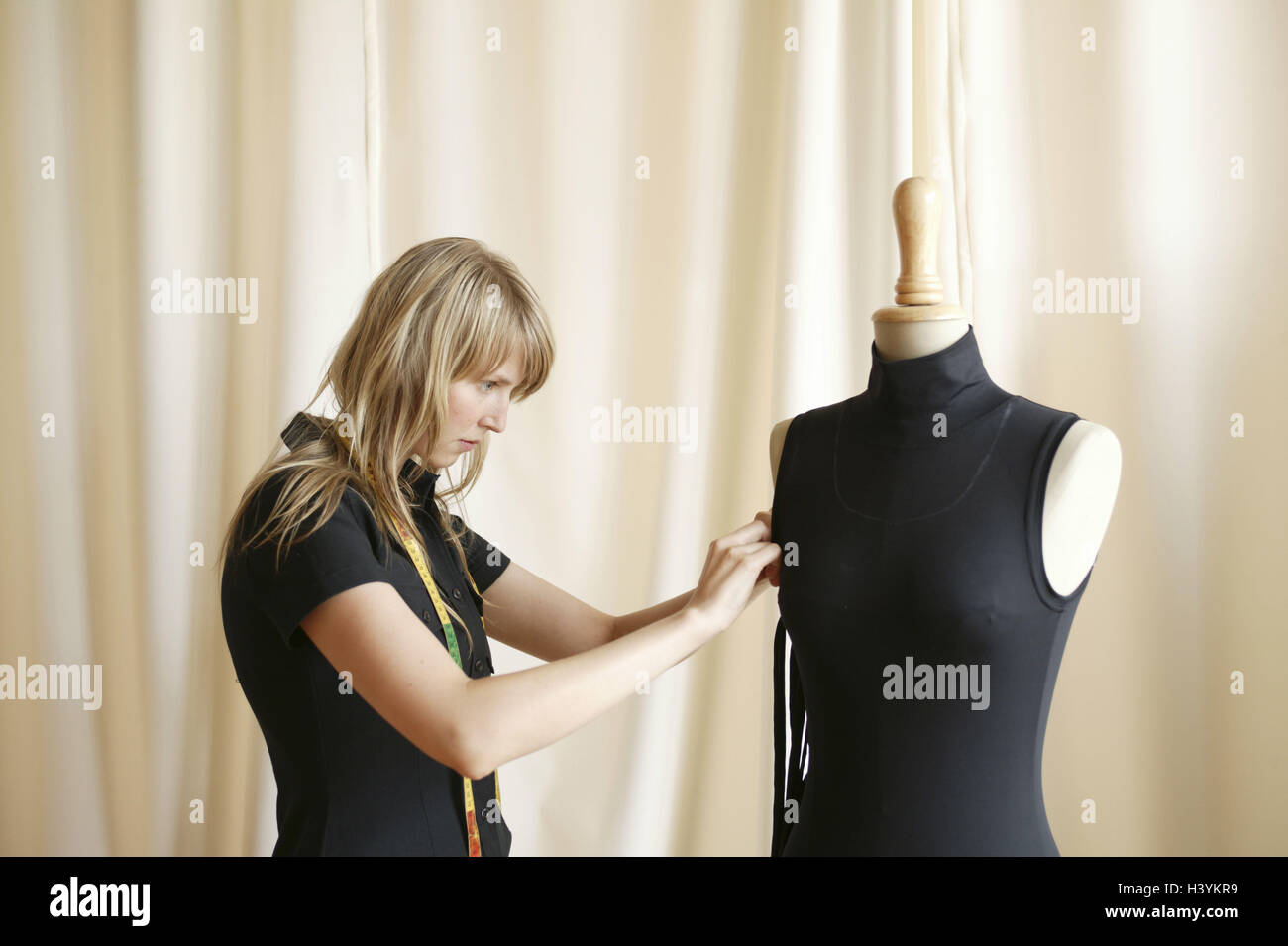 Woman Young Tape Measure Dummy Upper Top Mark Out Stock Photo Alamy