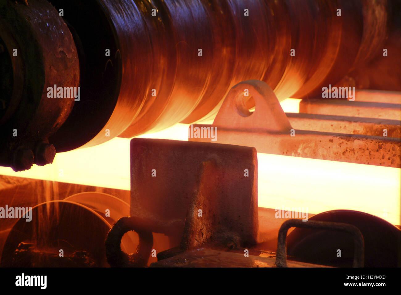 Germany, Saarbrucken-Burbach, Saarstahl Ag, wire production, Drahtstrasse, detail, Europe, Saarland, industry, steel - Stock Image