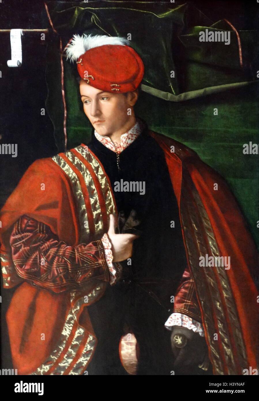 Portrait Of Ludwig Martinego by Bartolomeo Veneto (1470-1531) an Italian painter. Dated 16th Century Stock Photo