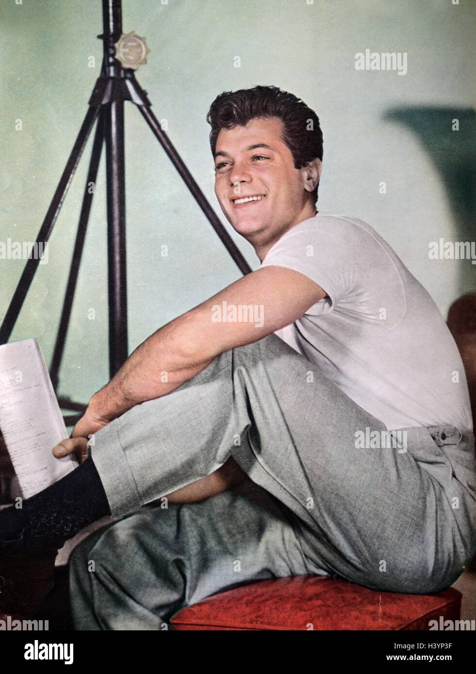 Photograph of Tony Curtis - Stock Image