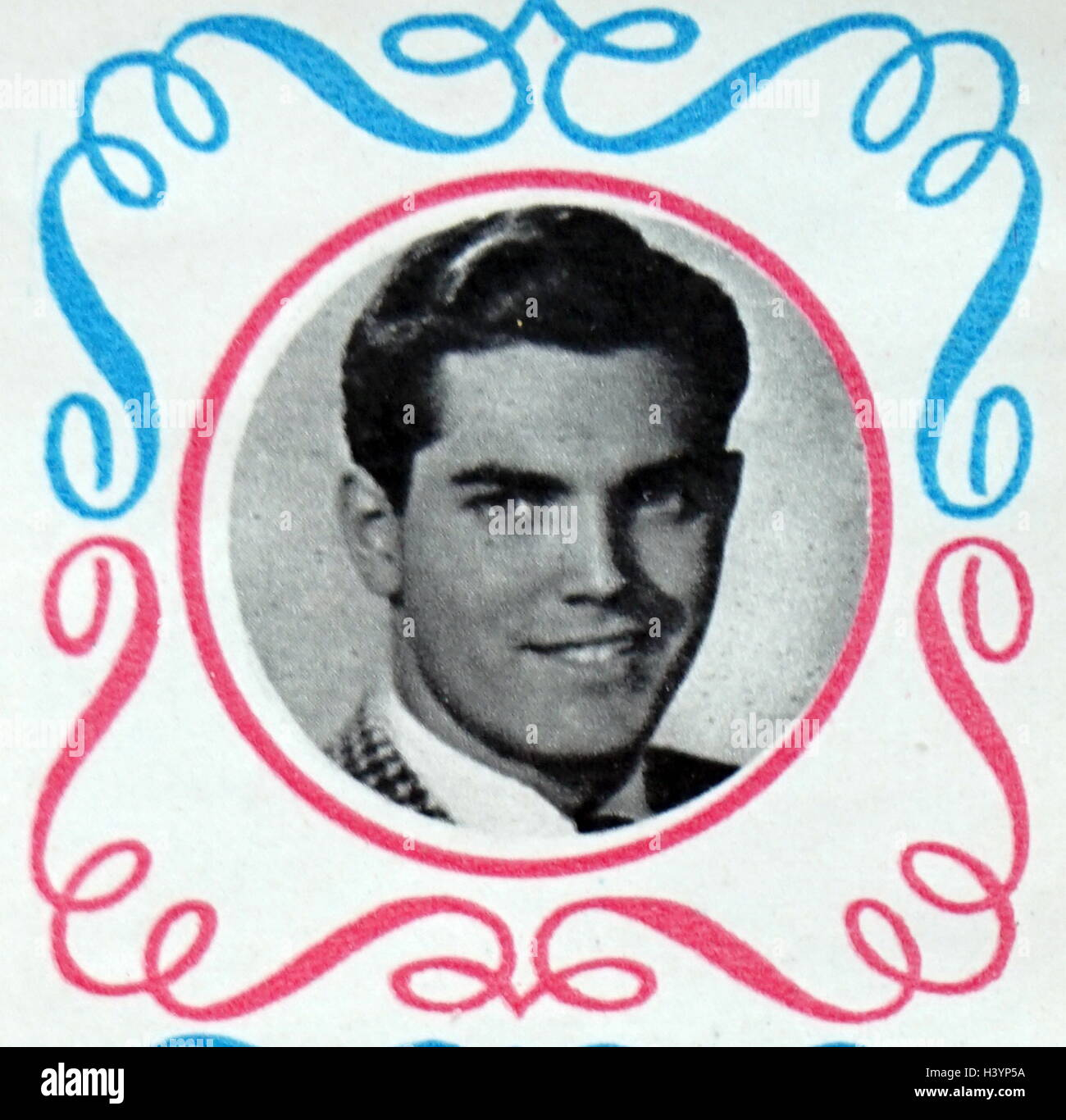 Photograph of Jeffrey Hunter (1926-1969) an American film and television actor and presenter. Dated 20th Century - Stock Image