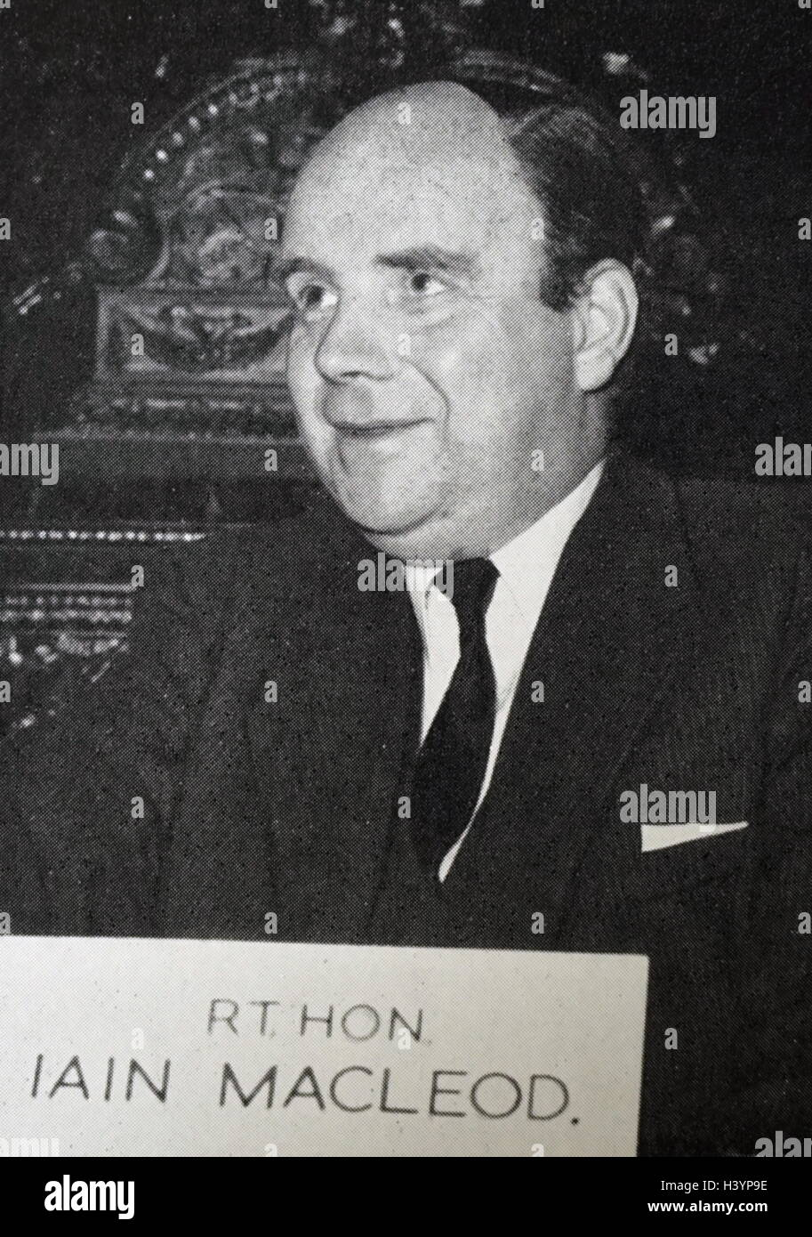 Photograph of Iain Macleod (1913-1970) a British Conservative Party politician and government minister. Dated 20th - Stock Image